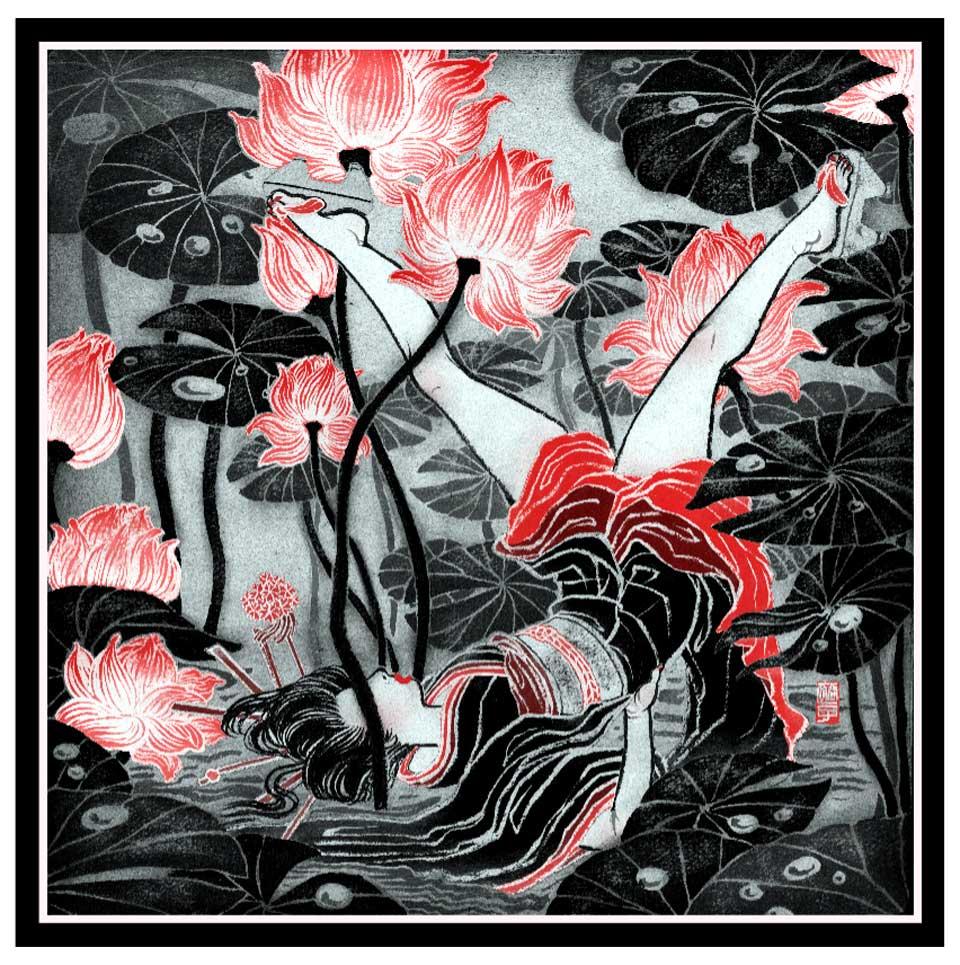 Yuko Shimizu - ABC of Contemporary Creatives Letter Y - yuko shimizu mae gallery editions silk scarf