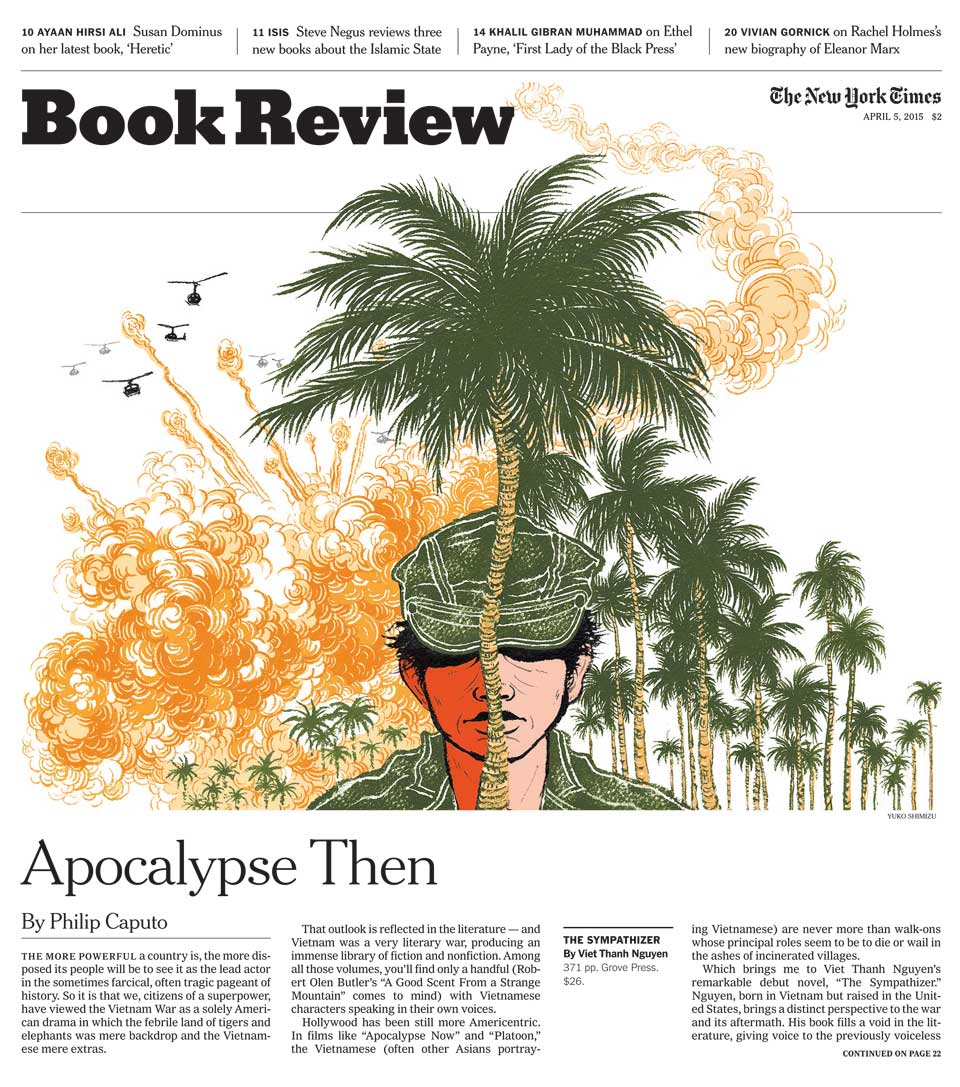 Yuko Shimizu - NY Times Book Review cover The Sympathizer - yuko Shimizu the sympathizer Viet Thanh Nguyen new york times book review cover