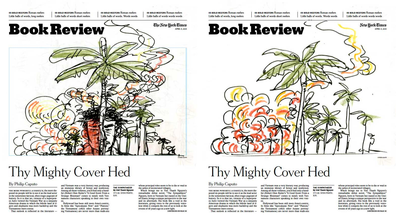 Yuko Shimizu - NY Times Book Review cover The Sympathizer -