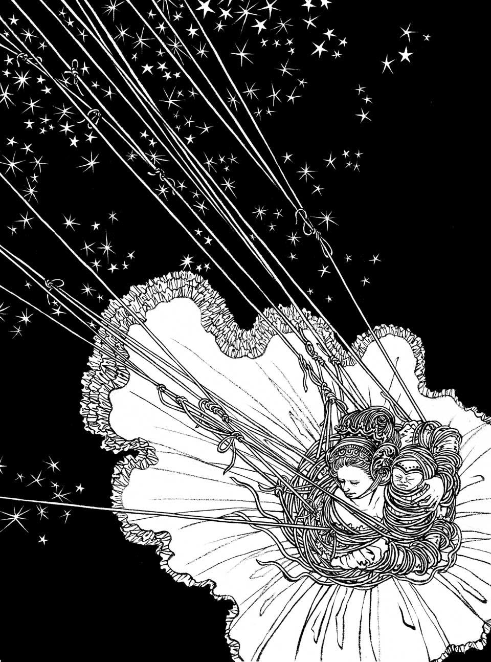 Yuko Shimizu - A Wild Swan – interior illustrations 2 – -