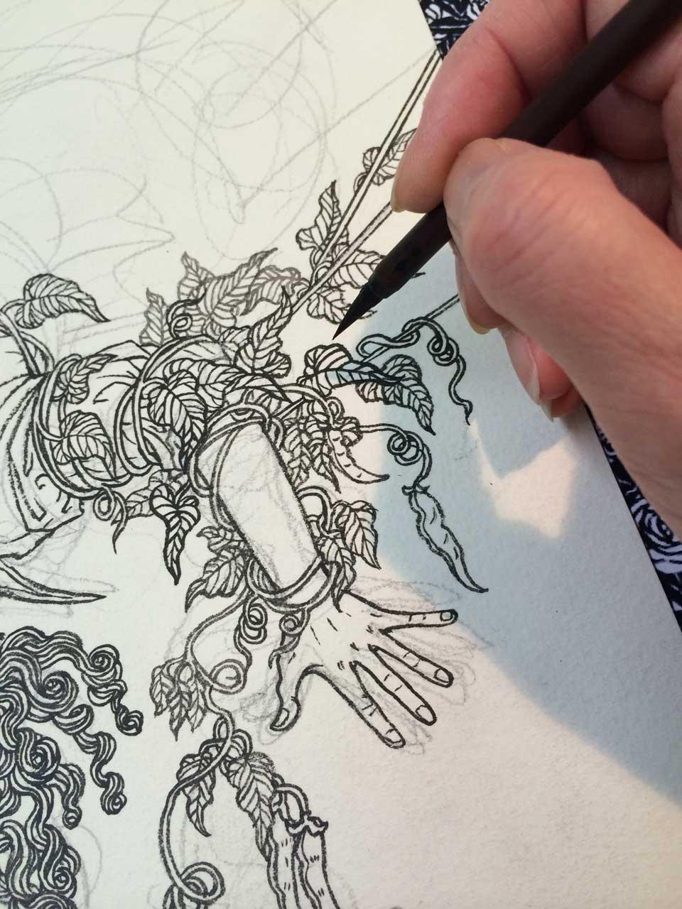 Yuko Shimizu - A Wild Swan – book jacket design process – -